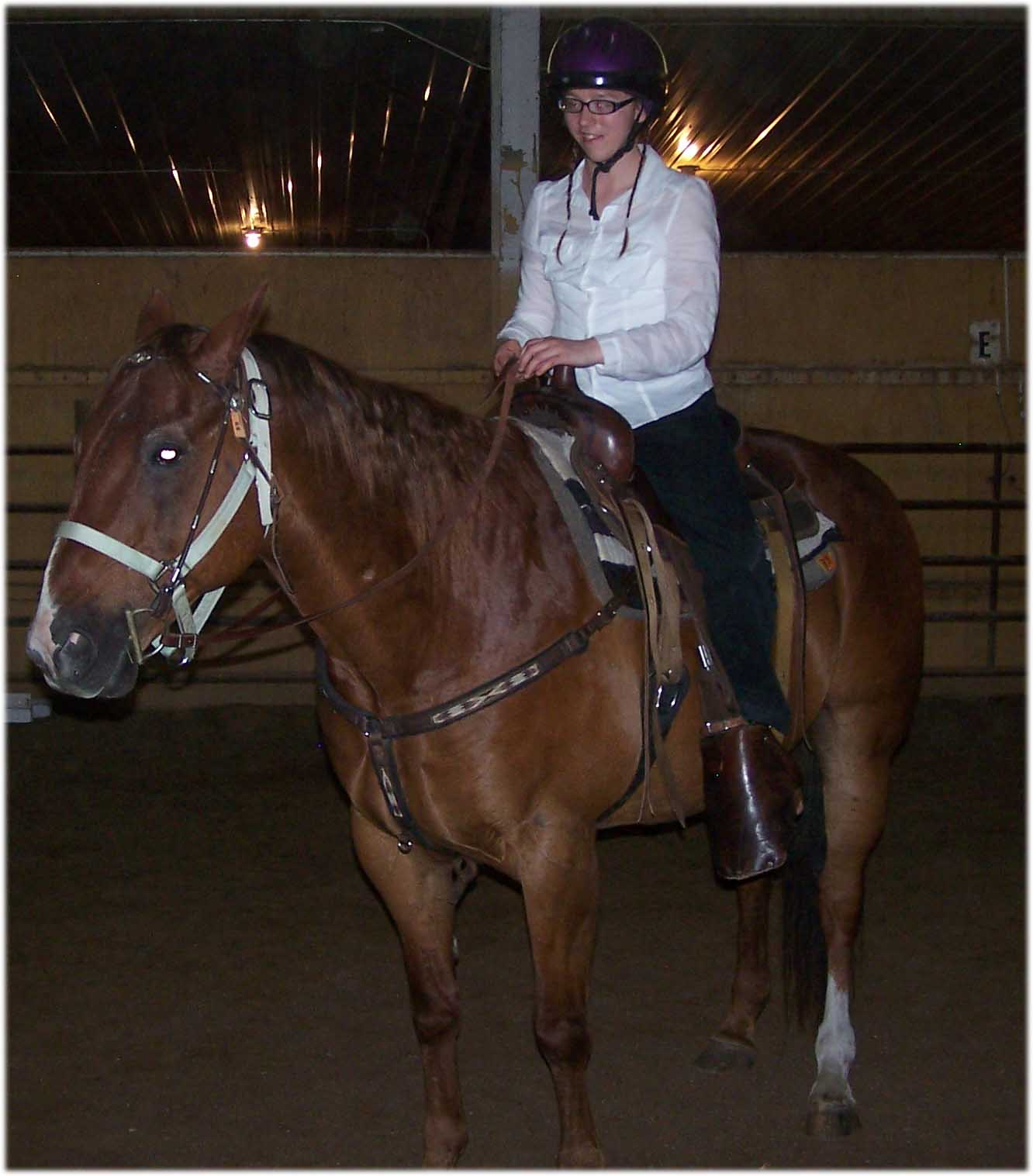 Melissa in Western Equitation